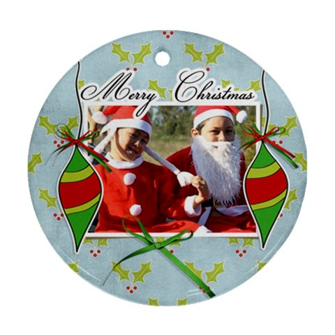 Ornament (round)   Christmas7 By Jennyl   Ornament (round)   7zsuc8ucmq95   Www Artscow Com Front