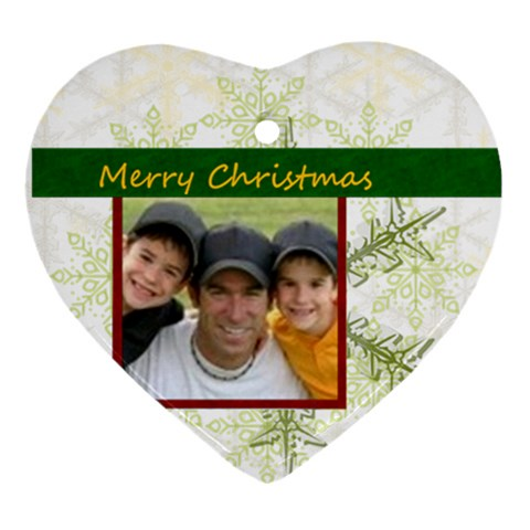 Christmas By Joely   Ornament (heart)   O2y6v4tylyb0   Www Artscow Com Front