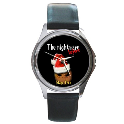 The Nightmare Before  Stage Tech By Timm Miller   Round Metal Watch   B8n35ggn8sjw   Www Artscow Com Front
