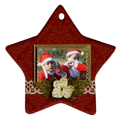 Ornament (star): Christmas14 By Jennyl   Ornament (star)   1oxeqzepgmfp   Www Artscow Com Front