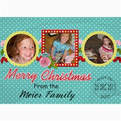 2011 Christmas Card 2b By Martha Meier   5  X 7  Photo Cards   7q8ggc33dahl   Www Artscow Com 7 x5 Photo Card - 4