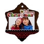 merry christmas - Ornament (Snowflake)