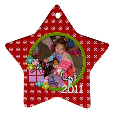 2011 Star Ornament 1 By Martha Meier   Ornament (star)   5hziv9e2tae6   Www Artscow Com Front