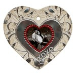 Kisses and Hugs Heart Ornament - Ornament (Heart)