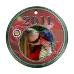 Red Rose 2011 Round Ornament - Ornament (Round)