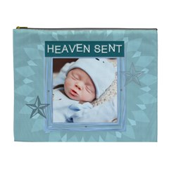 Heaven Sent Blue Xl Cosmetic Bag By Lil    Cosmetic Bag (xl)   0ty2wxjs9o0w   Www Artscow Com Front