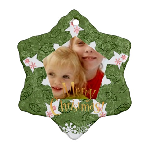 Christmas By Joely   Ornament (snowflake)   3audquja9y3f   Www Artscow Com Front