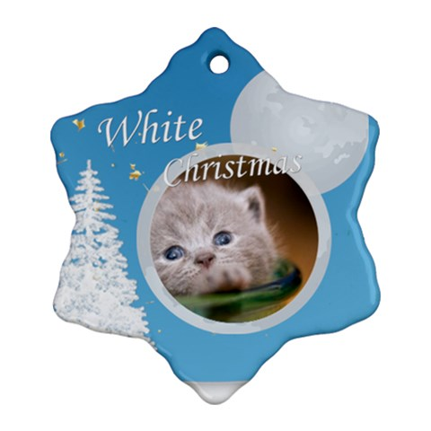 Christmas By Joely   Ornament (snowflake)   Qyijbjbhbdd5   Www Artscow Com Front