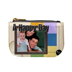 Happy Day By Joely   Mini Coin Purse   Ke6c0dhtsz6a   Www Artscow Com Front
