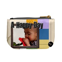 Happy Day By Joely   Mini Coin Purse   Ke6c0dhtsz6a   Www Artscow Com Back