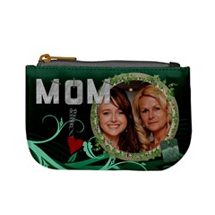 Mom Green Mini Coin Purse By Lil    Mini Coin Purse   575pbtdlqut0   Www Artscow Com Front