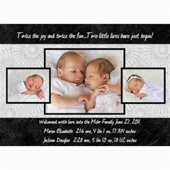 Twins 2 By Stacie Mehr   5  X 7  Photo Cards   B86zgx7iyqwk   Www Artscow Com 7 x5 Photo Card - 1