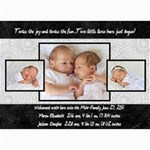 twins 2 - 5  x 7  Photo Cards