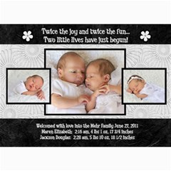 Twins 2 By Stacie Mehr   5  X 7  Photo Cards   B86zgx7iyqwk   Www Artscow Com 7 x5 Photo Card - 2