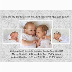 Twins 2 By Stacie Mehr   5  X 7  Photo Cards   B86zgx7iyqwk   Www Artscow Com 7 x5 Photo Card - 6
