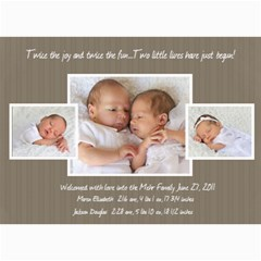 Twins 2 By Stacie Mehr   5  X 7  Photo Cards   B86zgx7iyqwk   Www Artscow Com 7 x5 Photo Card - 7