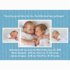 Twins 2 By Stacie Mehr   5  X 7  Photo Cards   B86zgx7iyqwk   Www Artscow Com 7 x5 Photo Card - 8