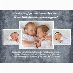 Twins 2 By Stacie Mehr   5  X 7  Photo Cards   B86zgx7iyqwk   Www Artscow Com 7 x5 Photo Card - 9