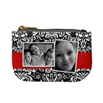Damask (red & black)-mini coin purse