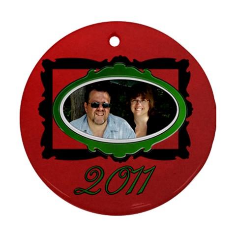 2011 Ornament By Patricia W   Ornament (round)   Rw2f78tciaur   Www Artscow Com Front