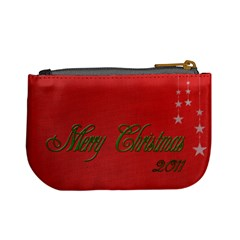 Merry Christmas Change Purse By Patricia W   Mini Coin Purse   Hp5gxgeteocr   Www Artscow Com Back