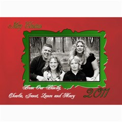 Red And Green Card By Patricia W   5  X 7  Photo Cards   8lyokacxon94   Www Artscow Com 7 x5 Photo Card - 3