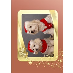 Golden 5x7 Christmas Card By Deborah   Greeting Card 5  X 7    J0tnkmo61mbv   Www Artscow Com Front Inside