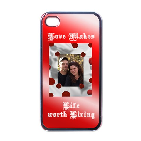 Love Iphone 4 Case By Suzie   Apple Iphone 4 Case (black)   Mqqjdrvuewrc   Www Artscow Com Front