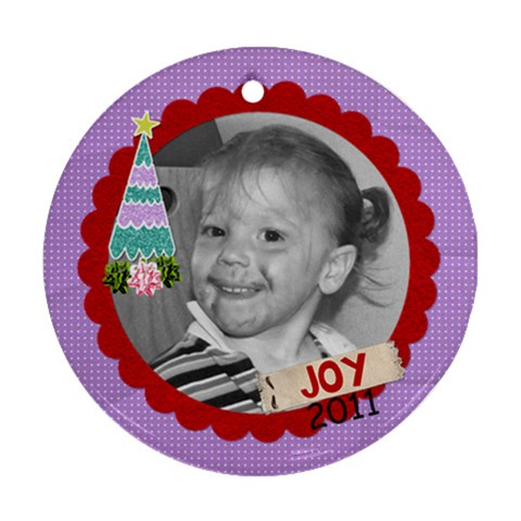 2011 Circle Ornament 6 By Martha Meier   Ornament (round)   00untmapds82   Www Artscow Com Front