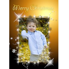 Rich Gold Christmas 5x7 Card By Deborah   Greeting Card 5  X 7    K8bkaojq0pe1   Www Artscow Com Front Cover