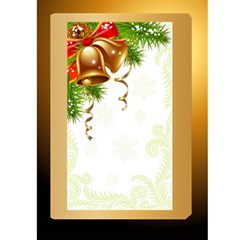Rich Gold Christmas 5x7 Card By Deborah   Greeting Card 5  X 7    K8bkaojq0pe1   Www Artscow Com Front Inside