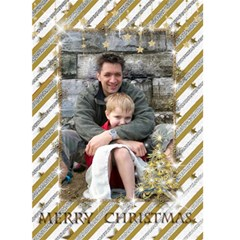 Gold And Silver Christmas Card (5x7) By Deborah   Greeting Card 5  X 7    J2hblkj3mdp9   Www Artscow Com Front Cover