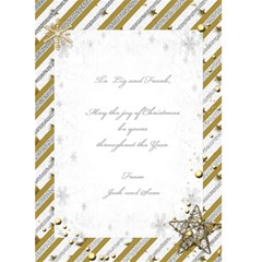 Gold And Silver Christmas Card (5x7) By Deborah   Greeting Card 5  X 7    J2hblkj3mdp9   Www Artscow Com Back Inside