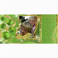 Frosted Bauble Christmas Photo Card (4x8) Lime By Deborah   4  X 8  Photo Cards   I30frglowwgm   Www Artscow Com 8 x4 Photo Card - 4