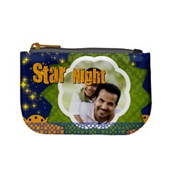 Star Night By Joely   Mini Coin Purse   Ezjowzmark8q   Www Artscow Com Front