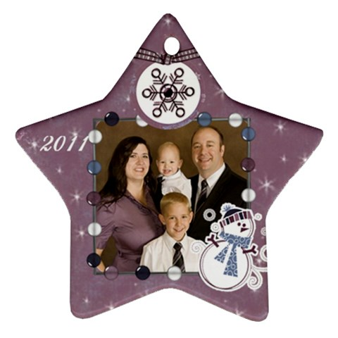 Family 2011 By Nicole Thompson   Ornament (star)   Iestacsii1v8   Www Artscow Com Front