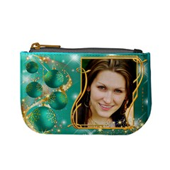 Christmas Named Mini Coin Purse (teal) By Deborah   Mini Coin Purse   Wznwl48ij8pj   Www Artscow Com Front
