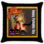halloween - Throw Pillow Case (Black)