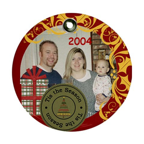 Family 2004 By Nicole Thompson   Ornament (round)   1wyjfhsvgbbk   Www Artscow Com Front