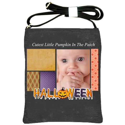 Halloween By Joely   Shoulder Sling Bag   78y5ujnbmct5   Www Artscow Com Front