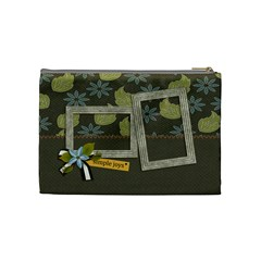 Cosmetic Bag (medium): Simple Joys2 By Jennyl   Cosmetic Bag (medium)   I4lk1i0n2lei   Www Artscow Com Back