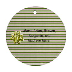 2011 Circle Ornament 2 Sided 3 By Martha Meier   Round Ornament (two Sides)   O5xlmqsdfww7   Www Artscow Com Back