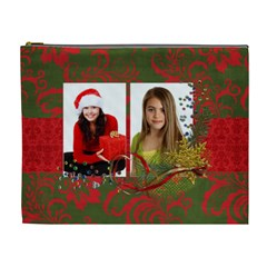 Chrismtas/holiday Cosmetic Bag (xl) By Mikki   Cosmetic Bag (xl)   Chf3mmf6av0h   Www Artscow Com Front