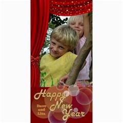 Happy New Year 4x8 Photo Card 2 (red) By Deborah   4  X 8  Photo Cards   Jtezwerdpq30   Www Artscow Com 8 x4 Photo Card - 4
