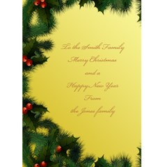 Merry Christmas In Yellow 5x7 Card By Deborah   Greeting Card 5  X 7    Ax3ctxle8dkv   Www Artscow Com Back Inside
