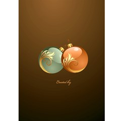 Merry Christmas In Gold 5x7 Card By Deborah   Greeting Card 5  X 7    510y26m2e57u   Www Artscow Com Back Cover