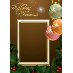 Merry Christmas In Gold 5x7 Card By Deborah   Greeting Card 5  X 7    510y26m2e57u   Www Artscow Com Front Cover