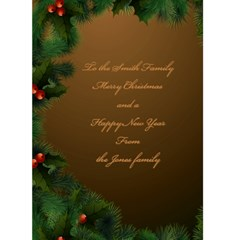 Merry Christmas In Gold 5x7 Card By Deborah   Greeting Card 5  X 7    510y26m2e57u   Www Artscow Com Back Inside
