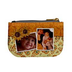 Autumn Flowers Mini Coin Purse By Mikki   Mini Coin Purse   P4peje6lqb8v   Www Artscow Com Back