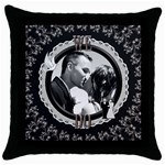 We Do Fancy Throw Pillow Case - Throw Pillow Case (Black)